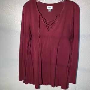 Front Lace Long Sleeve